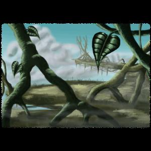 Fantasie Landschaft Fliegender Dschungel Gemälde
