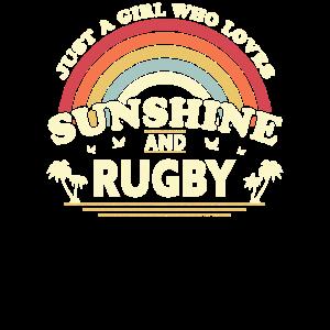 Rugby-Grafik. Nur ein Mädchen, das Sonnenschein liebt und