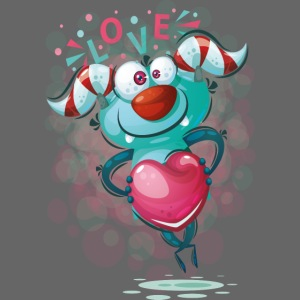 Monster cartoon love design