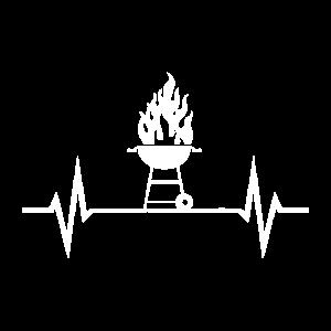 Grillen EKG BBQ Herzschlag Herzfrequenz