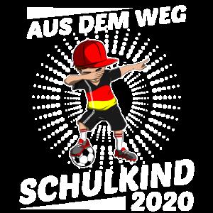 Schulkind 2020 Dabbing Fußball Jungen