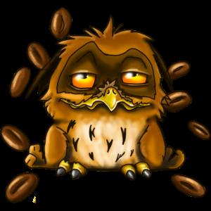 Kaffee Eule Der frühe Vogel