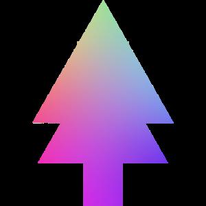 Neon farbige Tanne