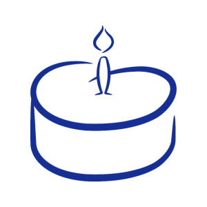 Kuchen Illustration Vektor Blau