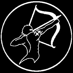 Zeichen des Schützen-Tierkreises (weiß)