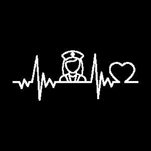 Beste Krankenschwester Herzschlag Geschenk