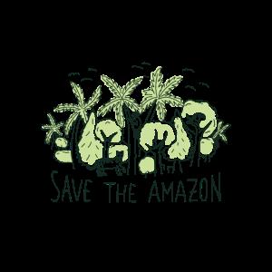 Rettet den Amazonas Urwald Naturschützer Design