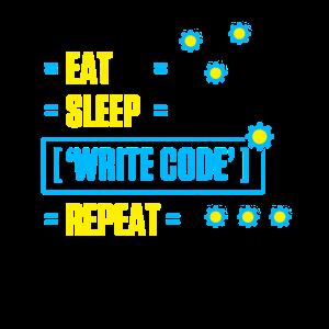 Eat Sleep Code Repeat Informatik