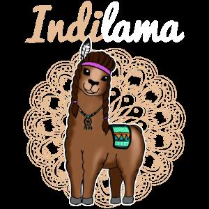 Indianer Lama Alpaka Geschenk Damen Herren Kinder