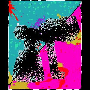 Farbpistole Silhouette