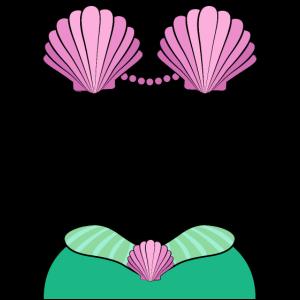 Meerjungfrau Karneval Kostüm Fasching