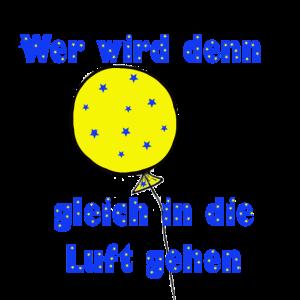 Geschenkidee Spruch Luftballon gelb