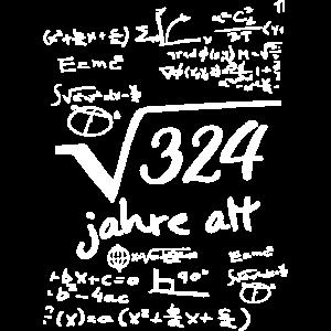 18. Birthday Wurzel 324 Geburtstag 18 Jahre mathe