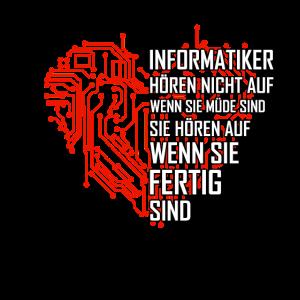 Informatiker Geschenk Spruch Technik