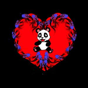 Asien Herz Pandabaer Fantasy Fische Koi Karpfen