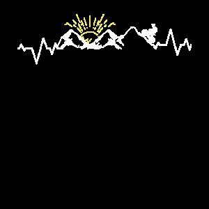Herzschlag Bergsteiger Wanderer Skifahrer Geschenk
