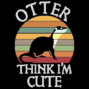 Otter think I'm Cute Otter Retro Vintage Geschenk