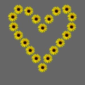 Sonnenblumenherz, Sonnenblumen, Sonnenblume, Herz