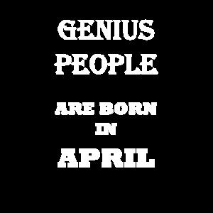 Genius people are born in april