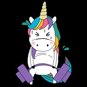 Deadlift Unicorn Fitness Einhorn Geschenk