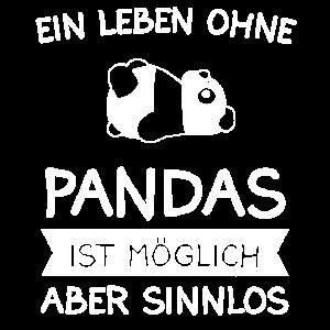 Panda Pandas Damen Geschenk