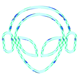 Alien Dj Music Headset Colorful