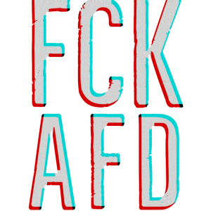 FCK AFD NZS NAZIS TIK TOK 3D Effect RED BLUE