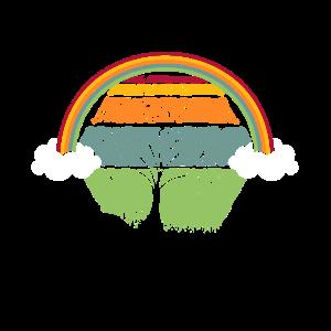 Natur vintage regenbogen