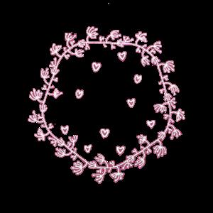 Girlande mit Herzchen