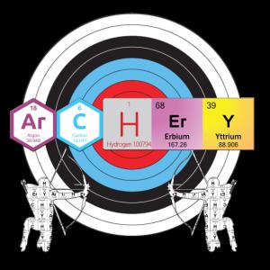 Bogenschießen Periodensystem der Elemente Nerd