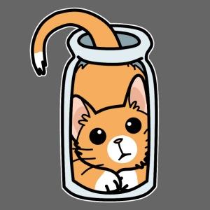 Kätzchen im Glas