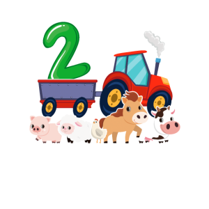 2. Geburtstag Bauernhof Traktor Geschenk 2 Jahre