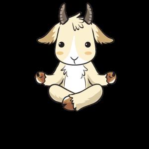Yoga Ziege Ziegen Ziegenbock Goat Geschenk