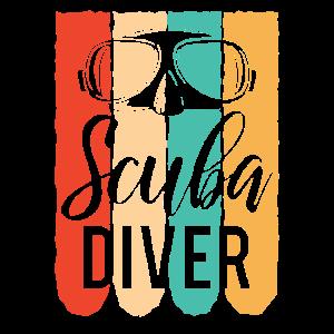 Coole Scuba Diver Vintage Brille Tauchen Geschenk