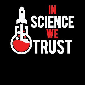 Cool in der Wissenschaft Wir vertrauen Wissenschaft Humor Geschenk