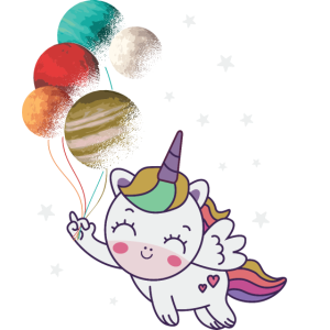 Fliegendes Einhorn Weltall flying unicorn space