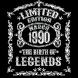 März 1990 - 30 Geburtstag Geschenk Jahrgang 1990
