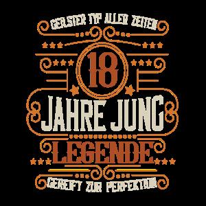 Geburtstag 18 Jahre Jung