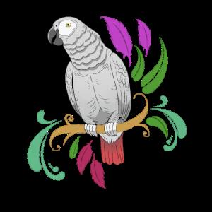 African Grey Parrot Geschenkprodukt Pet Parrot Print