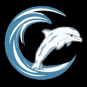 Welle mit Delphin