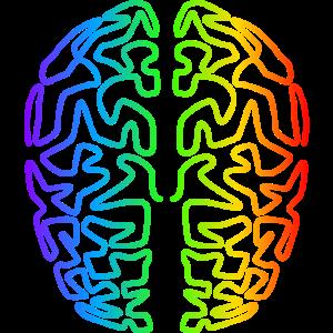 Regenbogen Gehirn mit Kreativität