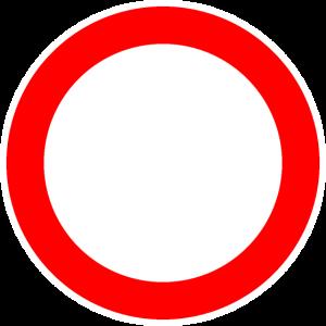 Rundes Verkehrsschild Schild Vorlage