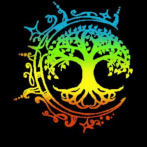 Lebensbaum , Chakras für spirituelles Yoga, Buddha