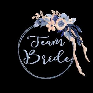 Personalisierbar JGA Tream Bride 2 nightblue boho