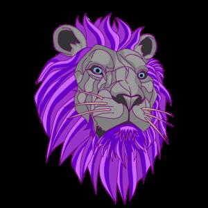 Löwen Kopf Geometrie König des Dschungels  Afrika