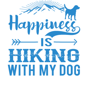 Happiness Is Hiking With My Dog wb