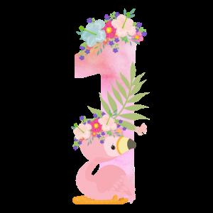 1. Geburtstag Flamingo 1th Birthday ONE Baby Kind