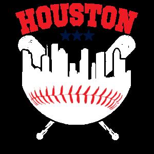Houston Baseball Skyline baseball fans Shirt