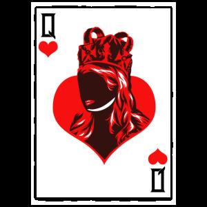 Herz Dame Spielkarte