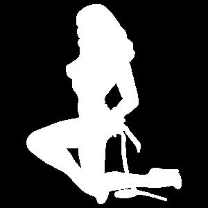 nackte Frau Silhouette Stripperin BDSM Geschenk